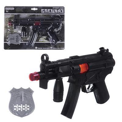 ИГРОЛЕНД Оружие-трещотка, PP, 2-4 пр, 21х29х4см, 2 дизайна