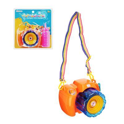 ИГРОЛЕНД Фотокамера Машина для мыл.пуз., 3хАА, с мыл-м раствр. 100 мл., ABS, 9,5х14х9,5см