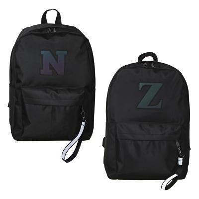 Рюкзак подростковый, 42x28x12см, ПЭ, 1 отд, 3 карм, аппликация из гологр.материала, черный, 2дизайна