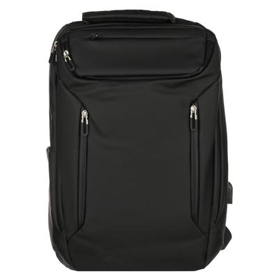 Рюкзак подростковый премиум, 46x29x12см, 2отд, 6 карм, эргон.спинка, прорезиненный ПЭ, USB, черный