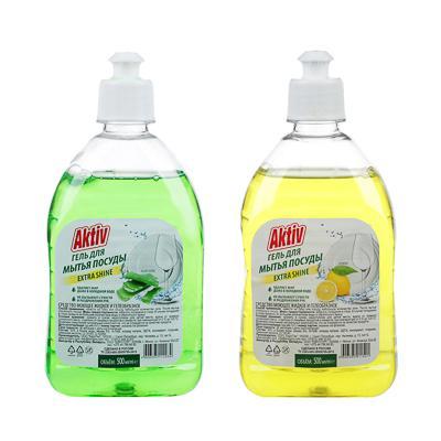 Средство для мытья посуды AKTIV/Радуга алоэ-вера/лимон/яблоко, 500мл,арт.см-2370,см-2371,1526.-п,137