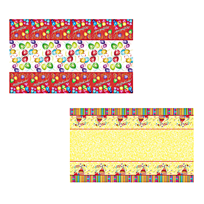 Капитан Весельчак Скатерть праздничная, 180х108см, полиэтилен, 30мкм, 2 вида, 530150/158
