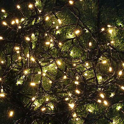 INBLOOM Гирлянда эл. вьюн для сада 198 LED, шампань,12м, пост. свечение, ПВХ, IP44, 220В, 50Гц