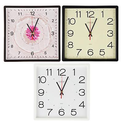 LADECOR CHRONO Часы настенные квадратные, 30х30см, пластик, 3 дизайна