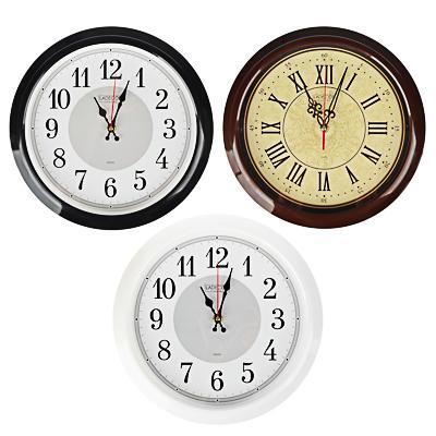 LADECOR CHRONO Часы настенные круглые, d30см, пластик, 3 дизайна
