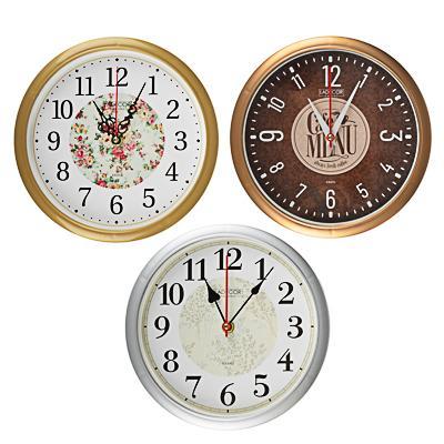 LADECOR CHRONO Часы настенные круглые, d22см, пластик, 3 дизайна