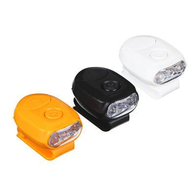 ЧИНГИСХАН Фонарик на кепку, 3 LED, 2xCR2032, 1 режим, пластик
