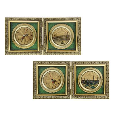 Часы настольные, стекло, закрывающиеся, 16х16 см , 1хАА, МT. Арт 2