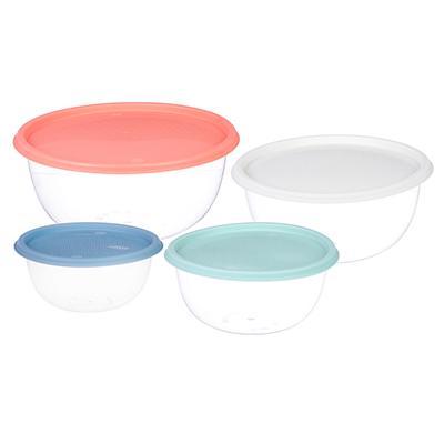 Набор мисок с крышкой, 4шт (1л, 2л, 3,1л, 5л), пластик