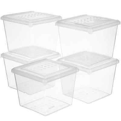 Набор контейнеров для заморозки 0,9л BioFresh 5шт, пластик