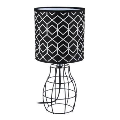 FORZA Лампа настольная, 30см, E14, 40Вт, металл, текстиль