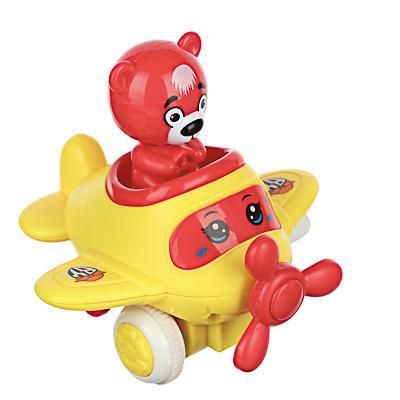 BY Игрушка в виде самолетика инерционного с фигуркой, ABS, 10,4х11,3х10,6см, 4 цвета