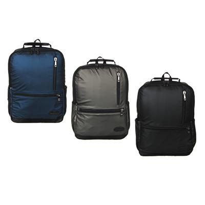 Рюкзак подростковый, 39,5x28x11см, 1 отд, 4 карм, многослойный водоотталк.нейлон, иск.кожа, 3 цвета