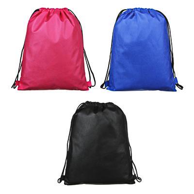 Мешок для сменной обуви на завязках 34,8x41,5 см, 3 цвета, ПЭ 80гр., ПРОМО