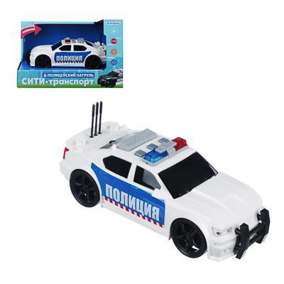 ИГРОЛЕНД Полицейский патруль, ABS, 3хLR44, свет, звук, инерция, 23,5х11х15,5см, 2 дизайна