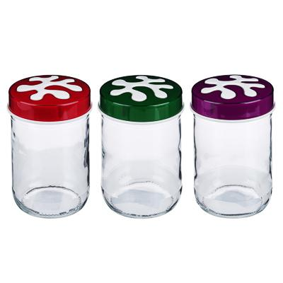 HEREVIN Пазл Банка для сыпучих продуктов, стекло, 660мл, 3 цвета, 135367-815