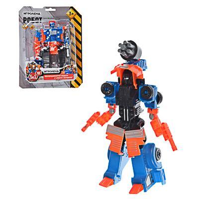ИГРОЛЕНД Робот трансформирующийся в стр. технику, пластик, 17х22х5,5-7см, 5 дизайнов