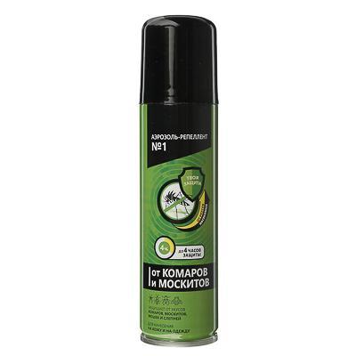 Аэрозоль-репеллент №1 от комаров и москитов, 150мл