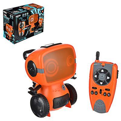 ИГРОЛЕНД Игрушка РУ в виде робота-шпиона с рацией, 27МГц, ABS, 6хААА, движ., свет,звук, 25x11x18,5см