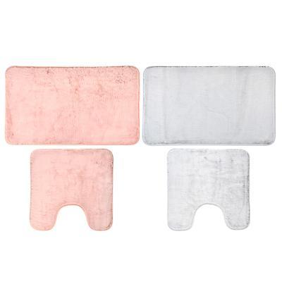 VETTA Набор ковриков для ванной и туалета, искусственный мех, полиэстер, 50x80см+50x50см, 2 цвета