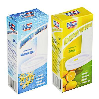 NEW GALAXY Освежитель для унитаза Полоска чистоты, лимон, морской бриз