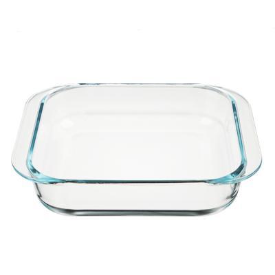 SATOSHI Форма для запекания жаропрочная квадратная, с ручками, стекло, 27.5x24x6см, 2,3л