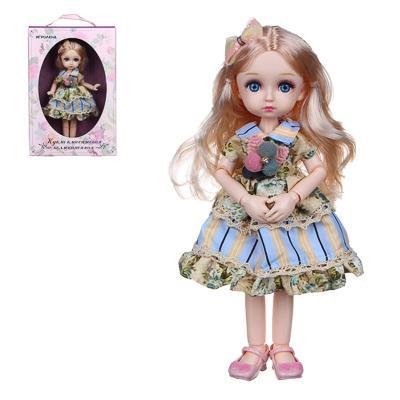 ИГРОЛЕНД Кукла классическая шарнирная, коллекционная, 28см, PP,PVC, полиэстер, 20х31х7см, 4 дизайна