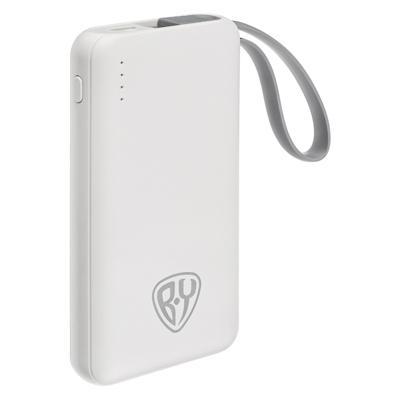 FORZA Аккумулятор мобильный, 3000 мАч, USB, 1А, встроенный кабель iP/Micro USB, 2 цвета