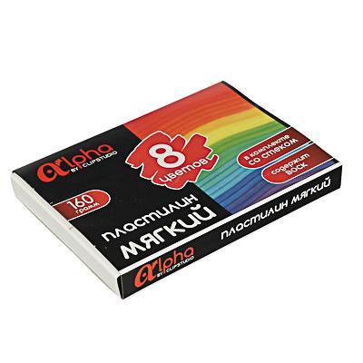 ClipStudio Пластилин мягкий, 8 цв. 160г