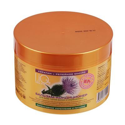 Бальзам-кондиционер для волос LiQ Кератин + репейное масло, 500мл