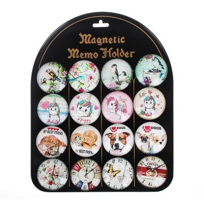 Магнит стеклянный, 5х5х1,6см, 16-24 дизайнов