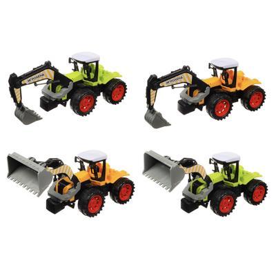 ИГРОЛЕНД Машина в виде Трактора, инерционного, PP, 27х11х12см, 4 дизайна