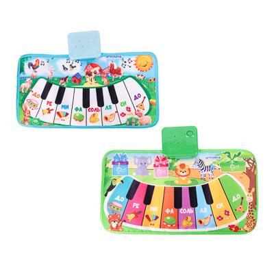 ИГРОЛЕНД Пианино музыкальное напольное, звук, 3хАА, PP, текстиль, 15х30х4см, 4 дизайна