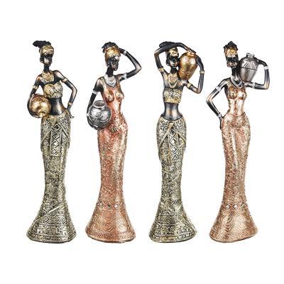 LADECOR Статуэтка в виде африканки, 31х8,5х6см см, 4 дизайна, полистоун