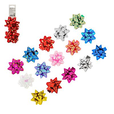 LADECOR Набор подарочных бантов, 2шт, 7см, 3 дизайна, 15 цветов, 505-050, 505-052, 505-051