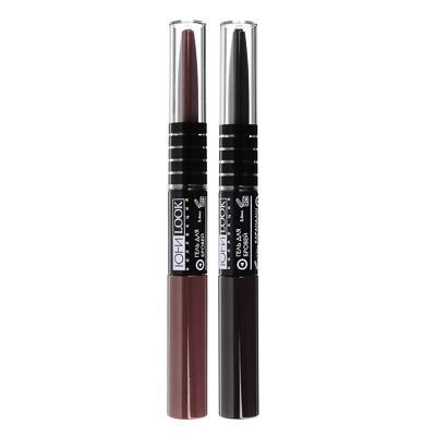 Набор 2 в 1: карандаш+гель для бровей ЮниLook, 0,25 г/5,4 мл, 2 тона