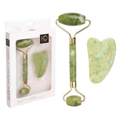 Набор для массажа 2 в 1 ЮниLook: массажер+скребок, тыльный камень