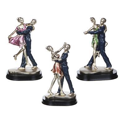 LADECOR Статуэтка в виде танцующей пары, полистоун, 8х10х16,5(+-2)см, 3 дизайна