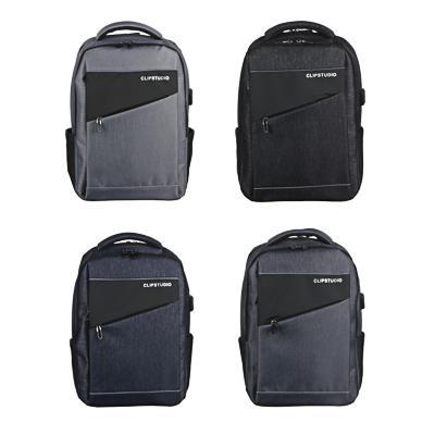 Рюкзак подростковый, 45х32x19см, 2 отд, 3 карм, ПЭ, иск.кожа,спинка с эрг.элем.,USB, 4 цвета