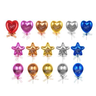 FNtastic Декор для торта в виде сердца, шарика, звезды, 19см, пластик, бумага, 3 дизайна
