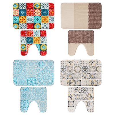 VETTA Набор ковриков для ванной и туалета, микрофибра, 45x70см + 45x45см,