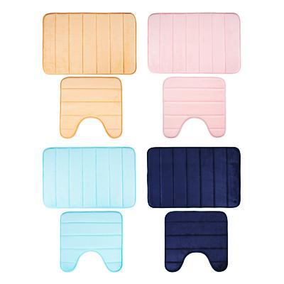 VETTA Набор ковриков для ванной и туалета, фланель, 45x70см + 45x45см,