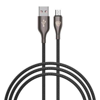 FORZA Кабель для зарядки Керамика Micro USB, 1м, 3А, Быстрая зарядка QC3.0, тканевая оплётка