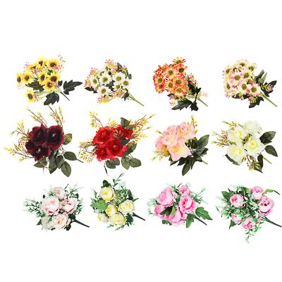 LADECOR Букет декоративный, 28-30см, пластик, полиэстер, 3 вида, 12 цветов