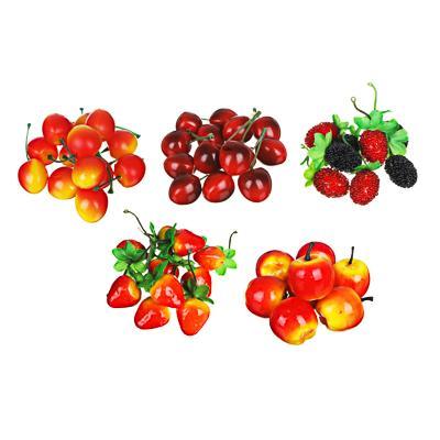 LADECOR Фрукты и ягоды искусственные, пластик, 5 видов