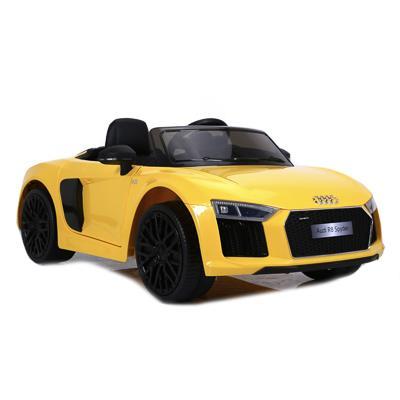 Электромобиль AUDI R8 SPYDER, 2-5 км/ч, желтый