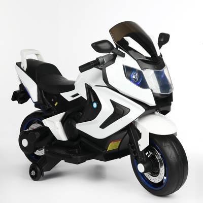 Электромотоцикл «Спортбайк» ИГРОЛЕНД, 3 км/ч, черно-белый