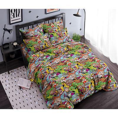 BYСказка Комплект постельного белья 1,5 с нав. 50х70 (4 пр.), поплин 110гр/м, 100% хлопок