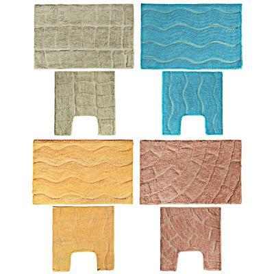 VETTA Набор ковриков 2шт для ванной и туалета, хлопок, 60x40см + 40x40см,