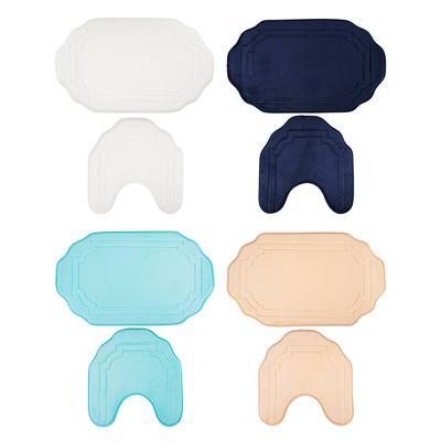 VETTA Набор ковриков 2шт для ванной и туалета, фланель, 45x75см + 45х38см,